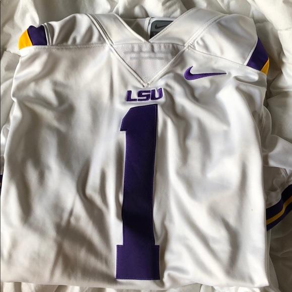 buy online 4aad5 c18ee LSU football jersey
